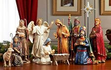 Three Kings Gifts Christmas Nativity Set - Full 10 inch Real Life Nativity Set
