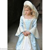 NEW GIRL KIDS CHILDS DELUXE RICH ROYAL TUDOR PRINCESS QUEEN FANCY DRESS COSTUME