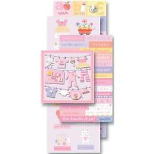 K&COMPANY FLIP PACK BABY GIRL PREGNANCY 87 DIE-CUT PLUS 3D SCRAPBOOK STICKERS