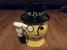 Mr. Peanut Ceramic Cookie Jar Head Monocle Top Hat Figure