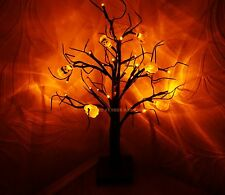 Halloween 24 LED Luz Calabaza Naranja árbol Party Prop Decoración Mesa-Ventana