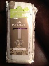 """TWO JCPenney Royal Velvet Thermal Pinch-Pleat Back-Tab Panel CREAM 50x 95"""" NEW"""