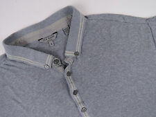 W4628 TED BAKER POLO SHIRT TOP ORIGINAL PREMIUM GREY MADE IN PORTUGAL size 5