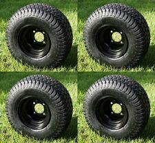 """(4) 18x8.5-8, Turf / Street Golf Cart Tires & Wheels """"3+4 Offset"""" Set of 4"""