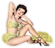 """Pin-up art retro sexy pin up pinup girl looking sticker decal 5"""" x 4"""""""