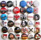 30 SECONDS TO MARS SET Pins Buttons Badges Lot of 36