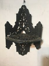 Rare Antique Eastlake Cast Iron Hanging Corner Shelf Oil Lamp Plant Stand ?