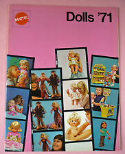 1971 MATTEL DOLLS CATALOG - BARBIE, ROCKFLOWERS, ETC