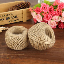 1 Roll 30M 2 Ply Natural Brown Jute Hessian Weave Twine Sisal String DIY Rope