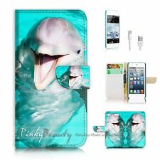 iPod Touch 6 iTouch 6 Flip Wallet Case Cover! P1226 Dolphin