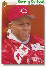699 BILLY HATCHER CINCINNATI REDS  BASEBALL CARD UPPER DECK 1992