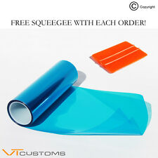 30 x 100cm Sky Blue Headlight Tinting Film Fog Vinyl Lights Tint + FREE SQUEEGEE