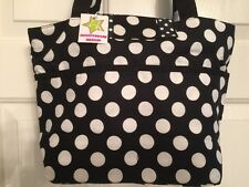 Boutique Shop - Black and White Polka Dot Hand Bag Tote - NWT