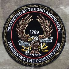 """Preserving the Constitution"" 2nd Amendment Eagle with Guns Patch"
