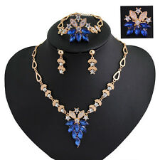 18K Gold Plated Swarovski Elements Jewellery Set Necklace Earrings And Ring