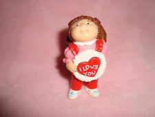 Cabbage Patch Brown Hair PVC vintage doll 1984 i love you valentine heart