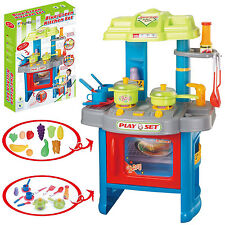 Portable Electronic Children Kids Kitchen Cooking Girl Toy Cooker Play Set 39PC