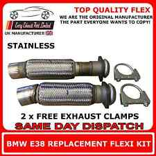BMW E39 525d 530d BMW E38 730d Exhaust Catalyst Flexi Pipe Downpipe Set Flex