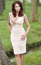 Stunning Amy Childs Lipsy Size 10 Pink Floral Corsage Dress Party Wedding