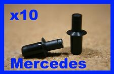 10 MERCEDES boot trunk trim lining panel cover retainer fastener pin clips