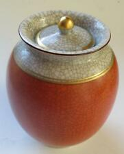 Royal Copenhagen Orange Crackle Glaze Lidded Pot