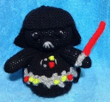 KNITTING PATTERN - Star Wars inspired Darth Vader orange cover or 14 cms toy