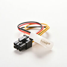 4 Pin Molex Male to 6 Pin PCI- Express PCIE Female Power Adapter Cable Cord w9