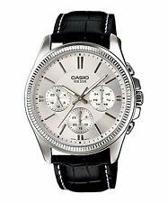 OROLOGIO UOMO CASIO COLLECTION MULTIFUNZIONE MTP-1375L-7A IN PELLE CASSA 42MM