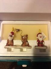 "WDCC Pluto's Christmas Tree Chip n Dale & Santa Candle ""Little Mischief Makers"