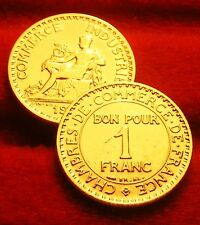 OR   PL     1    FRANC   CHAMBRE COMMERCE   1921 RARE  edition limitee