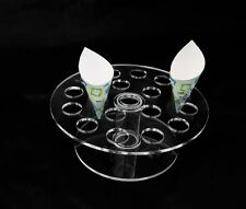Ice Cream Cake Candy Acrylic Holder Wedding Buffet Display 18 Cones Round Stand
