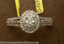 Yellow Gold Oval Halo Vintage Antique Pave Style Diamond Engagement Promis Ring