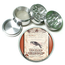 Old Crow Kentucky Whiskey Metal Silver Aluminum Grinder D26 63mm Herb Spice