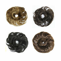 SYNTHETIC HAIR SCRUNCHIE ELASTICATED BOBBLE HAIR PIECE EXTENSION PONYTAIL JWHS