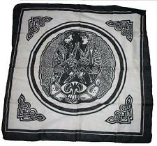 """Tuch (1x1m) Keltische Muster """"Lebenskreis   [Wandbehang Halstuch celtic tribal]"""