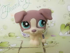 LITTLEST PET SHOP MAUVE JACK RUSSELL TERRIER DOG #2189