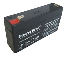 6V 1.2AH Sealed Lead Acid Battery For Emergency Lights by PowerStar