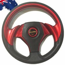 MOMO PU Leather  Car Steering Wheel Sport F1 JDM Auto Red 318mm VSWH33701
