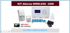64.80100K KIT Allarme GSM,10 Zone Wireless 868Mhz,4 Zone