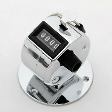 Stainless Metal Compact 4 Digit Number Clicker Golf Hand Held Tally Counter YP
