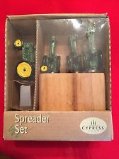 John Deere 4 Piece Set With Block Spreader Knives - New in Box