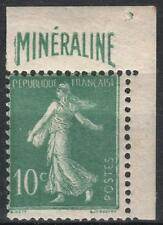 """FRANCE STAMP188 A """" SEMEUSE 10c BANDE PUBLICITAIRE MINERALINE """" NEUF xx TB M236"""