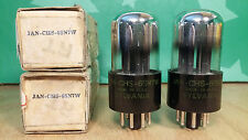 Matched Pair Sylvania JAN CHS 6SN7W NOS NIB Vacuum Tubes - Same 1945 Dates