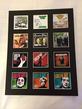 "GREEN DAY 14"" BY 11"" LP DISCOGRAPHY COVERS PICTURE MOUNTED READY TO FRAME"