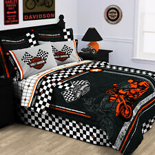 Harley Davidson® Racing Flag Pillow Sham