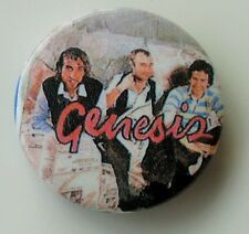 GENESIS GROUP PHOTO OLD METAL BUTTON BADGE FROM THE 1980's OLD SHOP STOCK