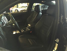 2012 2013 2014 DODGE CHARGER SXT RT BLACK KATZKIN LEATHER INTERIOR SEAT COVER