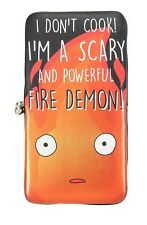 Studio Ghibli Howl's Moving Castle Calcifer Quote Kisslock Hinge Wallet NWT!