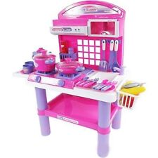 GIRL PORTABLE ELECTRONIC KITCHEN COOKING CHILD TOY LIGHT SOUND PLAYSET TOYS XMAS