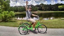 Neon Green Adult Tricycle-Brand New-High Quality-Easy To Ride-Big Seat & Basket!